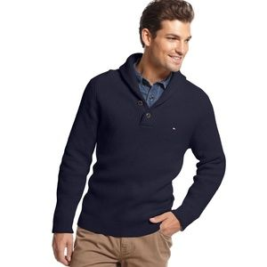 Tommy Hilfiger black men's cotton sweater